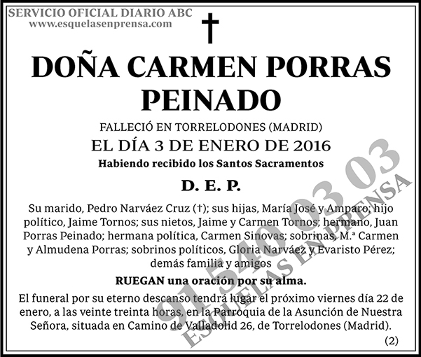 Carmen Porras Peinado